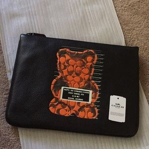 Coach Gummy Bear Leather Large  Wristlet 3 F77886